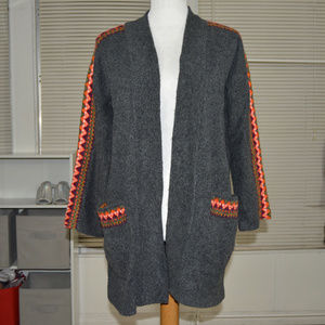 Old Navy gray long sweater cardigan size small